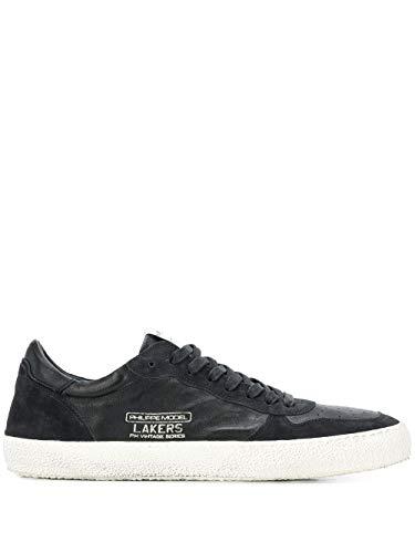 Moda De Lujo | Philippe Model Hombre LVLUXW06 Negro Cuero Zapatillas | Temporada Outlet
