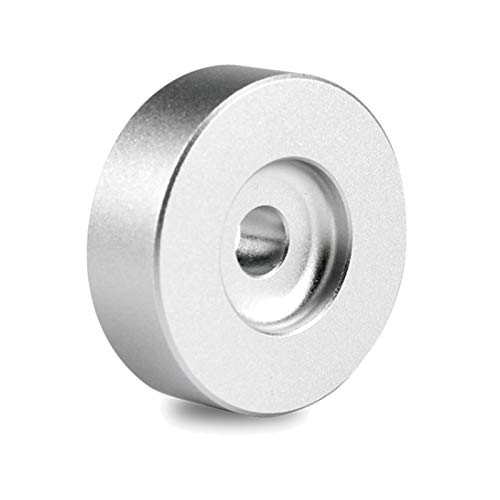 DIDILI Adaptador para Tocadiscos 45 RPM Aluminio Plateado para Vinyl Technics de 7 Pulgadas Serie SL1200