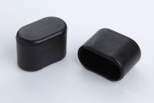Taco protector para patas de silla (4 unidades, 30 x 15 mm, plástico), color negro