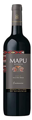 MAPU Reserva Carmenere - Baron Philippe de Rothschild – Trockener Rotwein aus Chile (1 x 0,75 l)