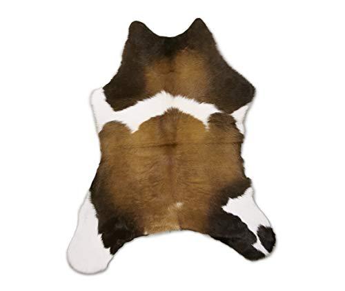 Zerimar Alfombra Piel de Vaca Becerro Natural | Medidas: 95x75 cm | Alfombra Salón | Alfombra Decoracion | Alfombra Dormitorio