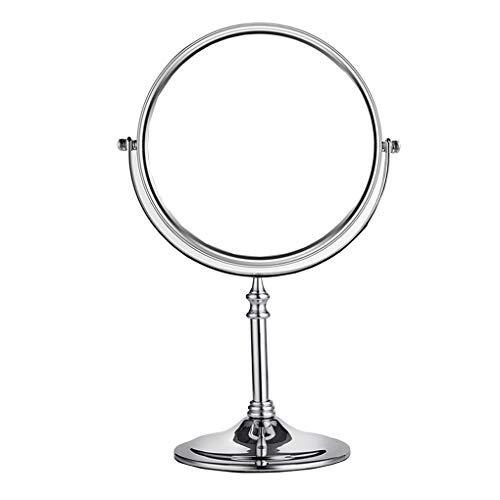 ACMEDE Standspiegel 3X Vergrößerung, 6,7,8 inch, Kosmetikspiegel 360° drehbar. Verchromten Schminkspiegel Rasierspiegel Badzimmerspiegel, Normal+ 3fach Vergrößerung