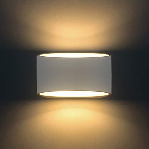 Applique da parete Intonaco Applique Applique su decorativo con 7W Led Light G9 Cap Night Lamp per soggiorno Camera Hall Scala Pathway [Classe di efficienza