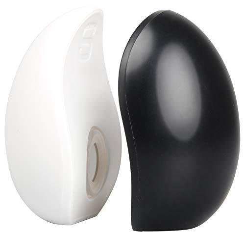 FACKELMANN Salz- & Pfefferstreuer mit Magneten, Gewürzstreuer für einfaches Dosieren, Streuer aus Kunststoff (Farbe: Schwarz/Weiß), Menge: 1 x 2 Stück