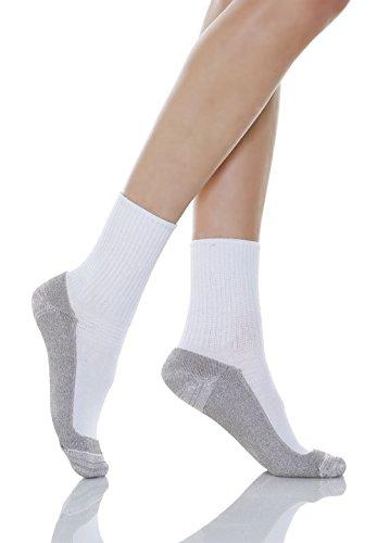 Relaxsan 550P (Blanco, Tg.1) Calcetines masajeadores para los diabéticos fibra de plata X-Static y plantilla de algodón