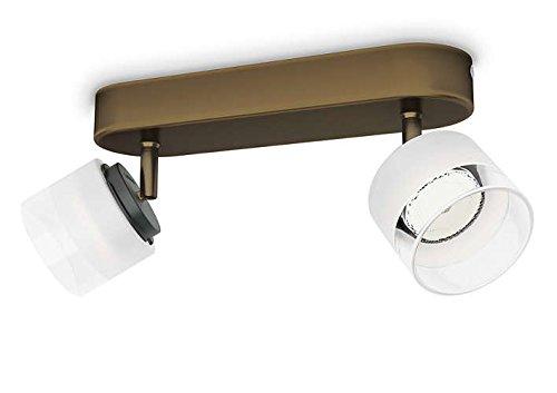 Philips 533320616 Fremont Luminaire d'Intérieur Spot LED Métal Bronze 4 W