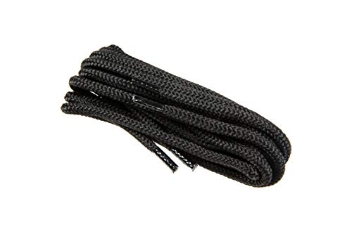 Round Shoe Laces For Work Safety Boots Shoes (91 - black / 150 cm - 59 inch)