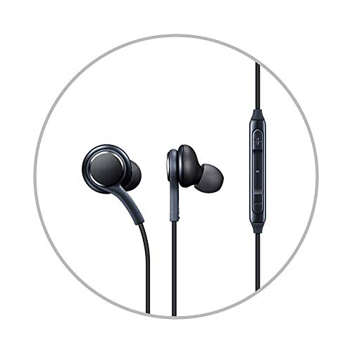A2Z Shop Earbuds Wired with Microphone For OnePlus 8 5G UW (Verizon) Noise Isolating in-Ear Headphones, Powerful Heavy Bass, High Definition, Earphones Music 3.5mm Jack Compatible All Android Phones (Black/White)