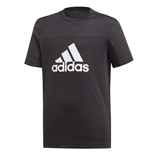 adidas Jungen T-Shirt Equipment, Black/White, 128, DV2921