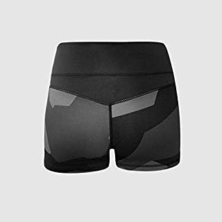 BEESCLOVER Women Black High Elastic Sport Shorts Push Up Slim Honeycomb Bottoms Printing Yoga Shorts Tight Running Fitness Gym Trunks