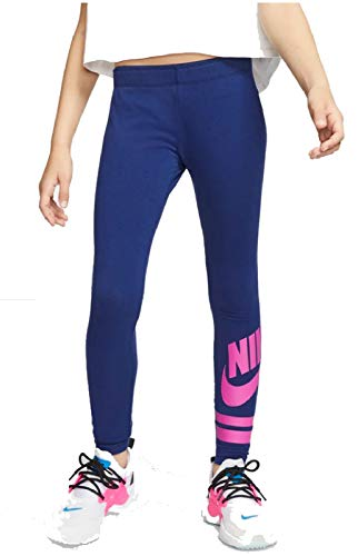 Nike Mädchen Sport Trousers G NSW LGGNG Favorite GX3, Blue Void/(fire pink), L, 939447