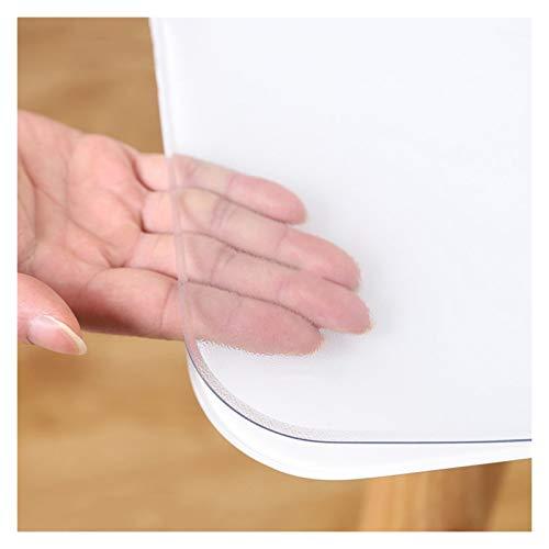 ZWYSL Protector de Mesa Cubiertas Protector Mesa Fácil Limpiar Resistencia a Altas Temperaturas Resistente a Rayones los Tamaños se Pueden Personalizar (Color : Clear-2mm, Size : 80x120cm)