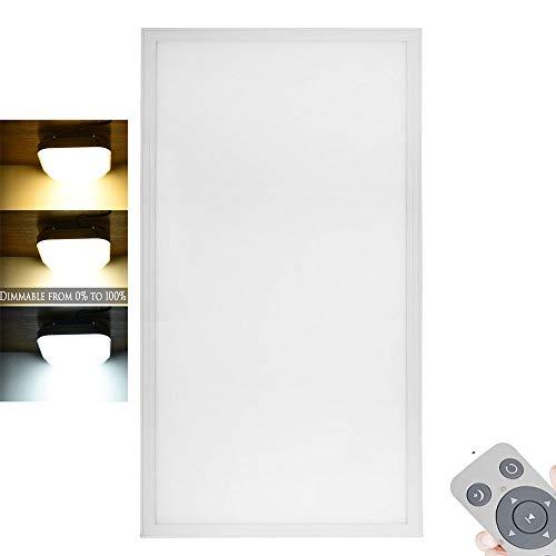 Panel LED Lámpara De Techo Suspensión Regulable Lámpara Empotrada Brillo, Luces De Baño Brillantes Para Sala De Estar/Comedor,1200x300 60w