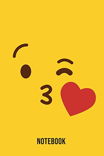 Notebook: Kiss Emoji Emoticons Notebook,: Emoticons Notebook For Kids, social media emoticons Journal, Emoticon Face Themed Birthday, Emoji Journal, ... Emoji Stuff, 120 Pages, 6x9, Matte Cover.