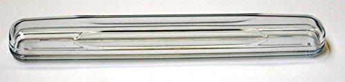 Zahnbürstenköcher transparent, mit Silberrand, 20 cm