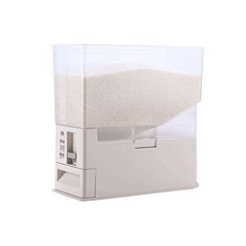 XYZMDJ Medibles Selladas Caja de Almacenamiento de arroz Granos de Cereales Frijoles Harina de Alimentos contenedores de plástico Tarros a Prueba de Humedad Materiales Cubo de Cocina