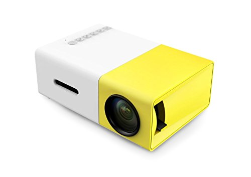 Mini Projector, YG300 Portable Full Color LED LCD Video Projector for Children Present, Video TV Movie, Party Game, Outdoor Entertainment with HDMI USB AV Interfaces and Remote Control