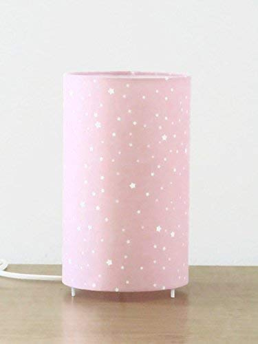 Lampe tube rose ou gris étoiles blanches