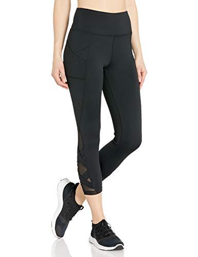 Bally Total Fitness Women's Standard Exhale Mid-Calf Pocket Legging, Black, Medium