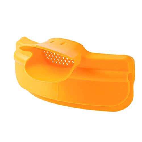 Gazechimp Embudo de Vertedor de Silicona Antiderrame para Olla de Sopa, Recipiente para Olla, Recipiente para Sopa, Vertido Fácil, Clip Antifugas, Embudo Deflec - Amarillo, Individual