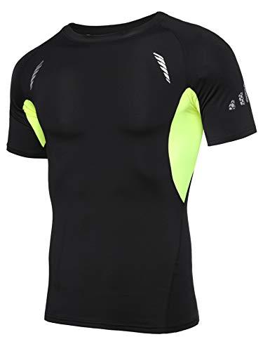 Sykooria T Shirt de Sport Compression Homme Séchage...