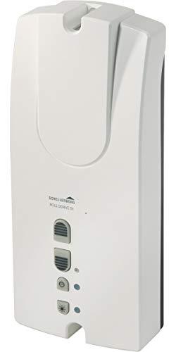 Schellenberg 22755 Elektrischer Gurtwickler Aufputz RolloDrive 55, Rolladenantrieb bis 5 m² Rollladenfläche, für Mini und Maxi Gurtband, Zugkraft max. 30 kg, Antrieb + Zeitautomatik, Komplettset
