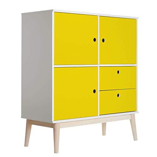 Meubelfolie - Uni Geel plakfolie folie decoratie voor meubels PVC zelfklevend geel Wall-Art 100x100 cm geel