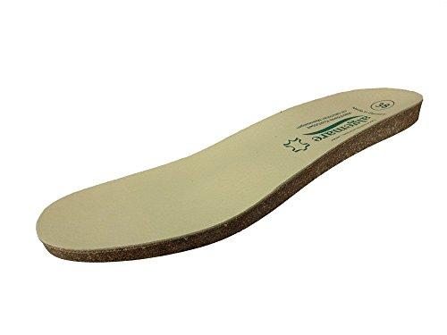 Algemare Damen Algen-Kork Wechselfußbett waschbar Leder Decksohle 9138_3131 Ersatzfußbett für Algemare Sandaletten Pantoletten Clogs Hausschuhe Trekking, Größe:38 EU