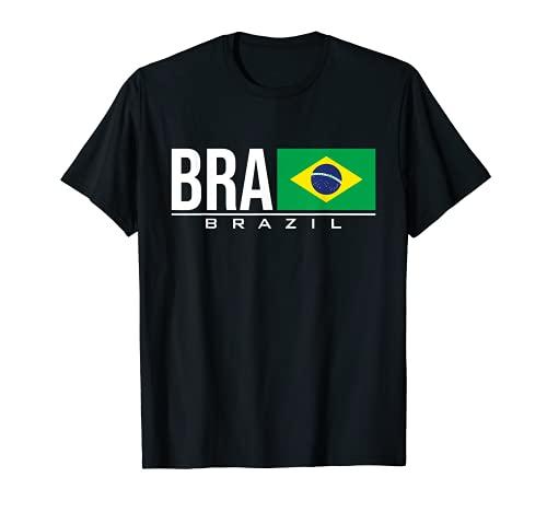BRASILE BRASIL BANDIERA BRASILE PAESE CODICE BRA SPORT GIOCHI Maglietta