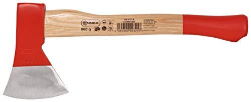 Connex Beil 800 g - Robuster Stiel aus Eschenholz - Kompakte Form - Kopf 2-fach verkeilt - Zur präzisen Bearbeitung von Holz / Handbeil mit Schneidschutz / Spaltbeil / Camping-Beil / COX841800