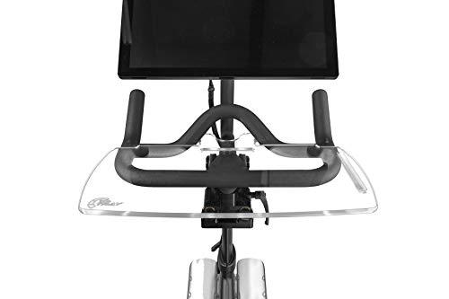 Spintray Top from Design | Bandeja V2 nueva y mejorada para Peloton | Trabaja y monta con tu teléfono, portátil, libro o tableta | Accesorios Peloton | Bandeja Peloton (transparente)