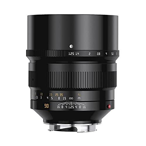 【国内正規品】銘匠光学 TTArtisan 90mm f/1.25 (ライカMマウント) (ブラック)「2年保証付」