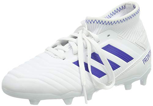 adidas Unisex Predator 19.3 FG Fußballschuhe, Weiß (Footwear White/Bold Blue/Bold Blue 0), 37 1/3 EU