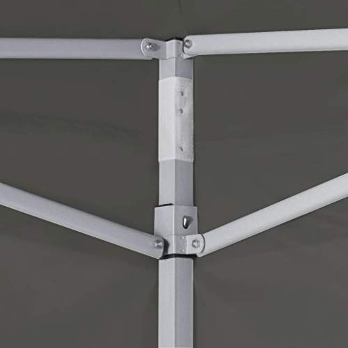 A-ZONE Carpa pleglable Pop-Up con 4 Paredes Antracita 3x3 m