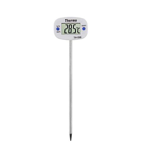 YFGQBCP Vleesthermometer Termómetro para Hornear enchufado, Sonda Super Larga, para Alimentos Carne Barbacoa, Medición De Temperatura del Agua, Cocina De Cocina