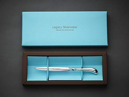 Legacy Silverware, Cuchillo abrecartas de plata de ley, fabricado en Sheffield.