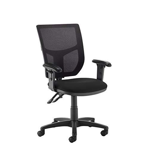 DAMS Sundry Altino 2 palanca de alta malla trasera operadores silla con brazos ajustables - Negro