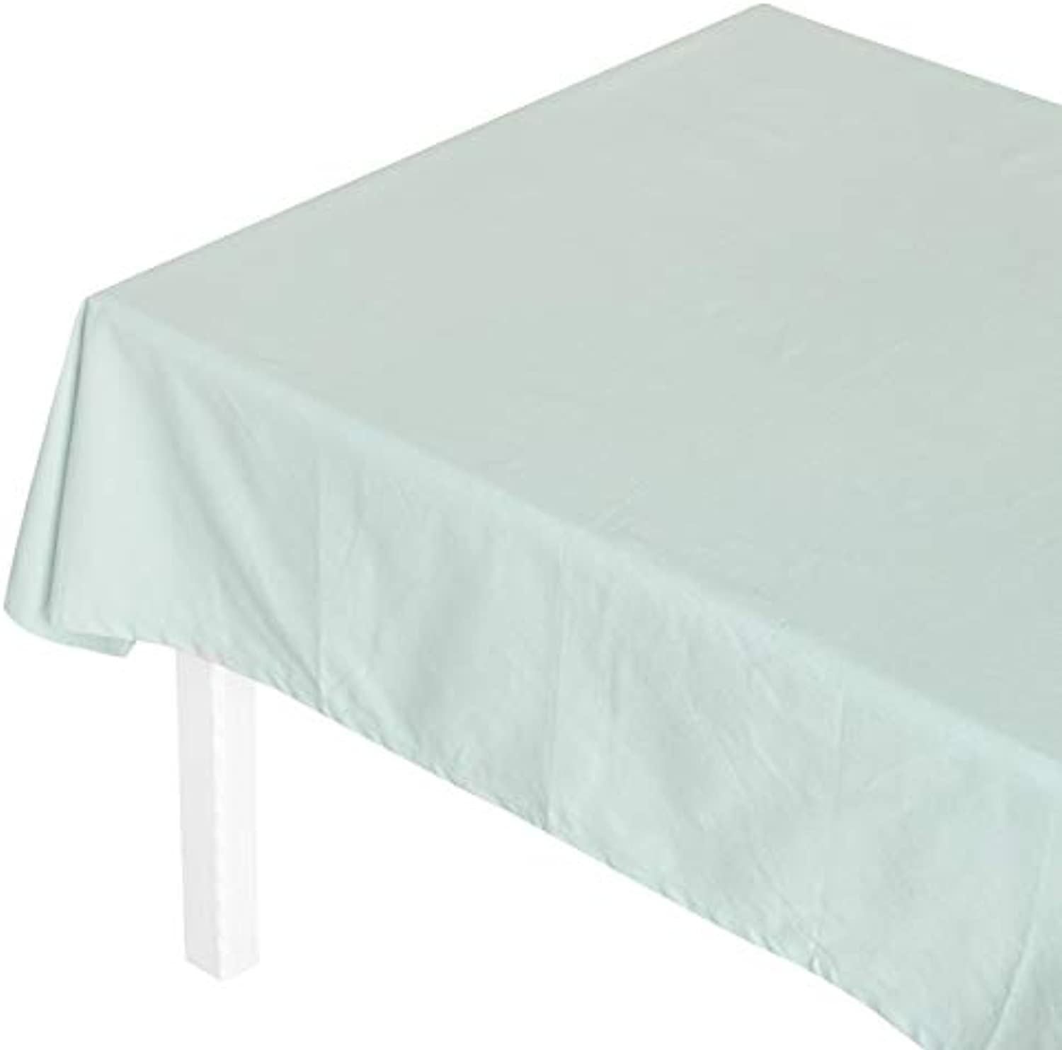 Creek Ywh Solid color tablecloth fabric pink cotton and linen small fresh padded desk coffee table cover cloth simple table round tablecloth, green, 140100cm