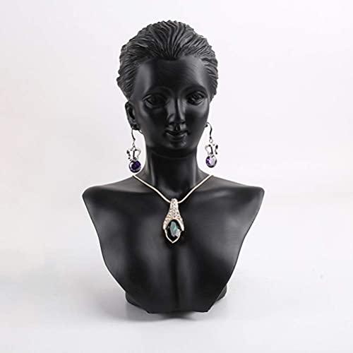 LIXFDJ Maniquí de busto de joyería para exhibición de anillo de collar, organizador de exhibición de maniquí de tienda a rso Model Jewelry Display Rack 14 * 21 cm * Código de producto: WW-102
