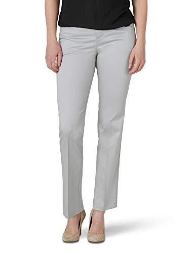 Lee Women's Misses Flex Motion Regular Fit Straight Leg Pant, Harbor Mist, 6