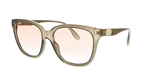 Gucci GG 0790S 002 Gafas de sol cuadradas de plástico marrón lente gradiente naranja