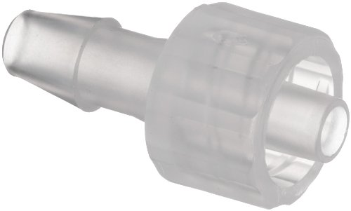 Value Plastics MTLL240-6 Natural Polypropylene Tube Fitting, Male Luer with Integral Lock Ring to 200 Series Barbed Coupler, 5/32