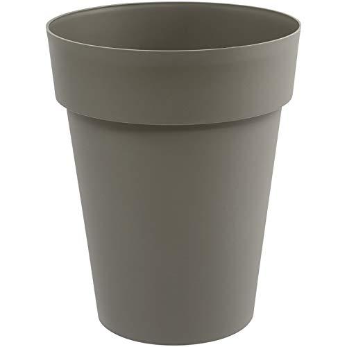 EDA Plastiques Vase haut TOSCANE taupe - Ø44 x H.53cm - 50 L