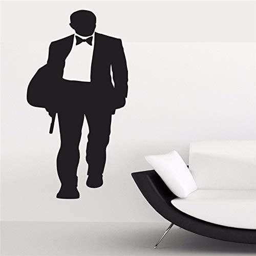 ONETOTOP James Bond Daniel Craig 007 Film Film Silhouette Wandkunst Aufkleber Removable Vinyl Room Decoration55 * 137 cm