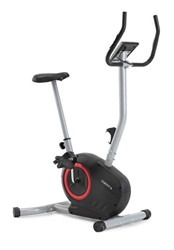 CADENCE Unisex - Bicicleta estática vertical STARTFIT B, negro y rojo