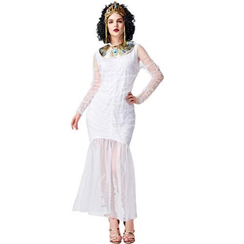 Disfraz De Halloween Princesa Vestido De Cola De Pez Adulta Diosa Griega Cosplay Momia Egipcia,M