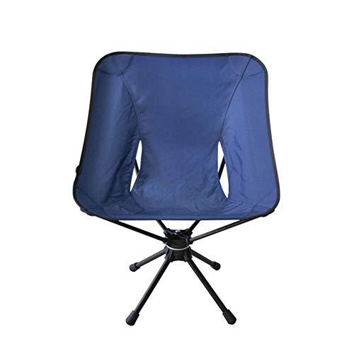Silla plegable que acampa plegable al aire libre del taburete silla del ocio de aleación de aluminio ultraligera de pescar portátil silla de camping silla giratoria Ideal para picnics Camping Playa ja