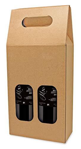 My Custom Style 3 scatole Cartone Valigetta Porta Vino da 2 Senza Stampa