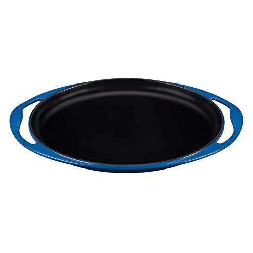 Le Creuset Cast Iron Griddle, Oval with 2 Practical Handles, Marseille
