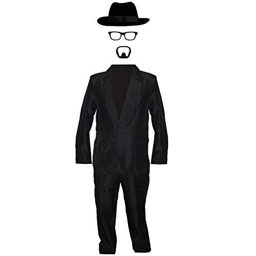 I LOVE FANCY DRESS LTD Walter White =KOSTÜM VERKLEIDUNG=Fasching Karneval=4 VERSCHIEDENEN GRÖSSEN = DER Hut IN 58cm + 60cm=Anzug+BRILLENGESTELL+Hut IN DER GRÖSSE IHRER Wahl+ BART=MEDIUM+HUT-58cm